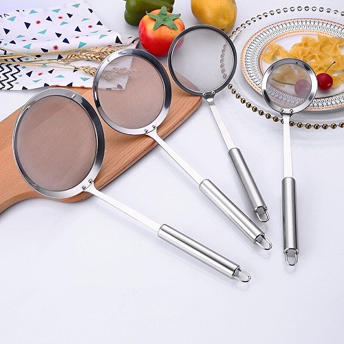 Multi-functional Filter Spoon Stainless Steel Fine Mesh Wire Oil Skimmer Strainer Fried Food Net Kitchen Gadgets Cook Tools