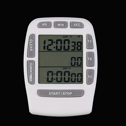 1 Pcs Triple Timer Clock kitchen Cooking 3-Line Alarm LCD Digital Count Down hot sales KT001 multi-function