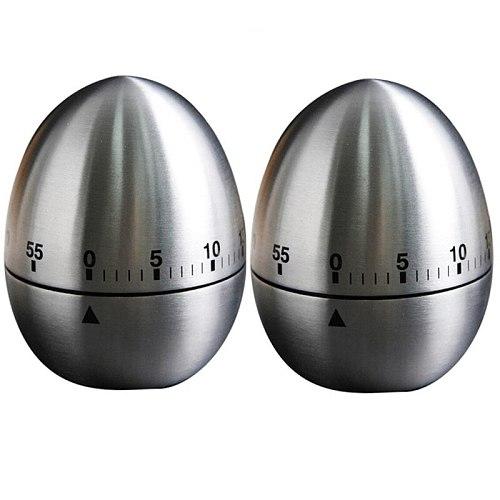 2Pcs Creative Kitchen Mechanical Timer Egg Timer 60 Minutes Student Timing Baking Cooking Reminder