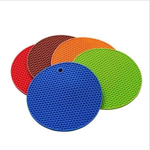 18cm Silicone Mat Multifunction Coasters  Tools Kitchen Accessories Cozinha Round Non-slip Table Placemat Kitchen Gadgets-S