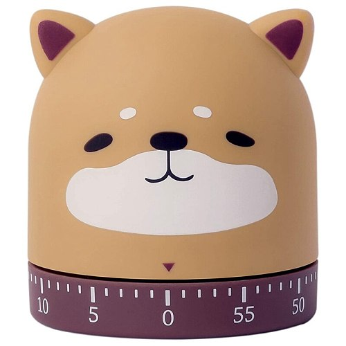 Kitchen Craft Mechanical Wind Up 60 Minutes Timer 360 Degree Rotating Cute Animals for Children
