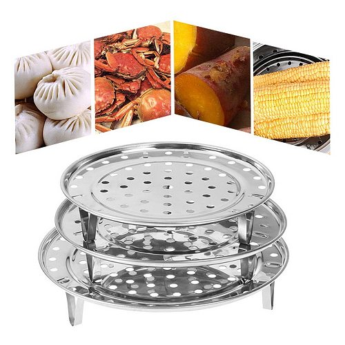 Round Steamer Rack for Food Baking Roasting Shelf Dumpling Stand Steamer Durable Pot Steaming Tray Stand  Kitchen Accessories