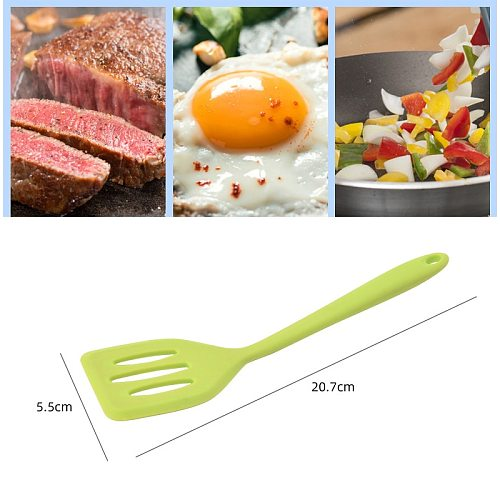 1pcs Silicone Turners Gadgets Kitchen Tools Egg Fish Frying Pan Scoop Fried Shovel Spatula Cooking Utensils  Thermostability