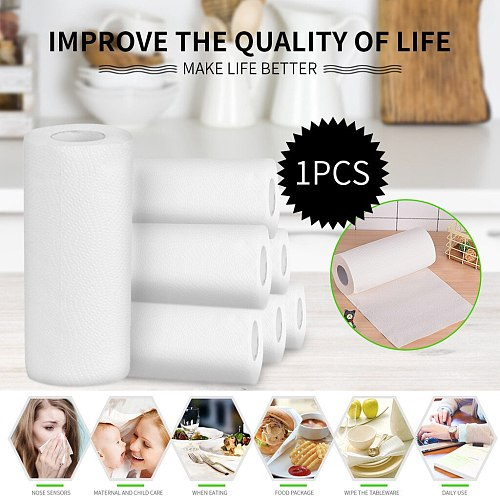 1 Roll Kitchen Paper Wood Pulp Disposable Oil Absorbing Paper Eco Friendly Biodegradable Cooking Absorbent Paper Towel