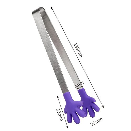 Silicone Kitchen Cooking Salad Serving Barbecue Tong Stainless Steel Utensil Handle 3 Colors Direct Delivery Children's Clothing