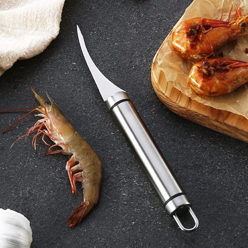 Stainless Steel Shrimp Line Knife Lobster Fish Cleaning Prawn Intestines Cutting Peeler Kitchen Device