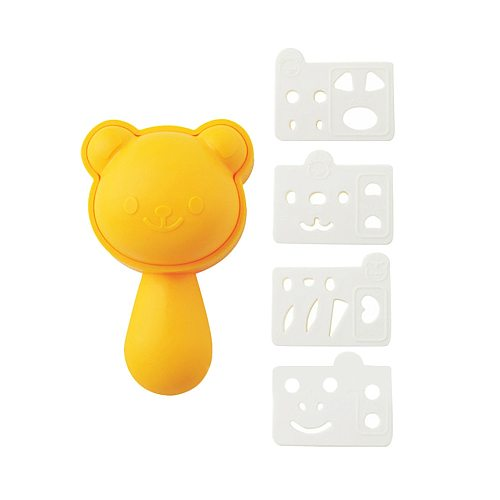 Cute Cartoon Rice Ball Molds Cat Shape Sushi Balls Maker Mould Spoon DIY Cooking Utensil Tools Set Kitchen Accessories