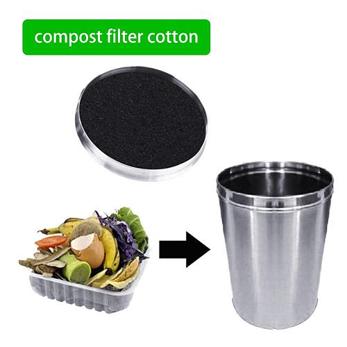 Filter Sponge Square round compost filter cotton, deodorant activated carbon kitchen barrel compost instead of filter activated