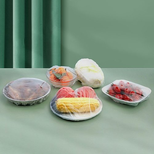 100PCS Reusable Durable Food Storage Covers For Bowls Elastic Plate Covers Bowl Covers Dish For Indoor Outdoor Picnic