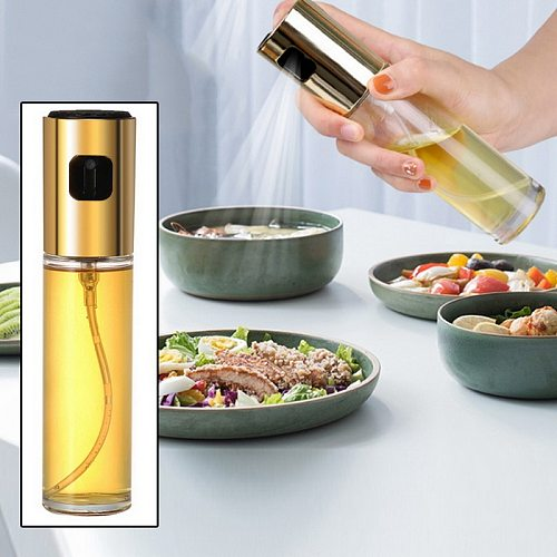 100ML Oil Spray Bottle Grill Salad BBQ Oil Dispenser Sauce Boat Kitchen Supplies Vinegar Tableware 1PC Glass Oil Sprayer