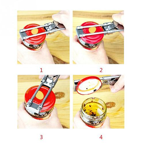 Kitchen Gadgets Can Opener Heavy Duty Bottle Opener Manual Openers Tools Stainless Steel Adjustable Can Bottles Jar Opener