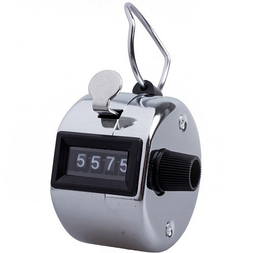 Clicker Number Sport With Metal Lap Tally Counter Cleaning Knob Handheld Manual Mini 4 Digit Portable Ergonomic Accurate