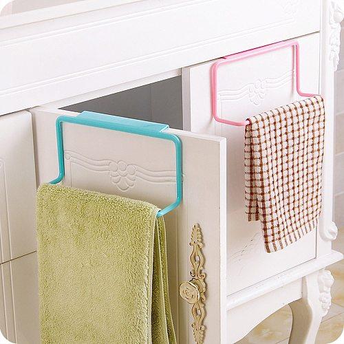 Towel Rack Hanging Holder Organizer Bathroom Kitchen Cabinet Cupboard Hanger kitchen Accessories Gadgets Bath Tools Herramientas