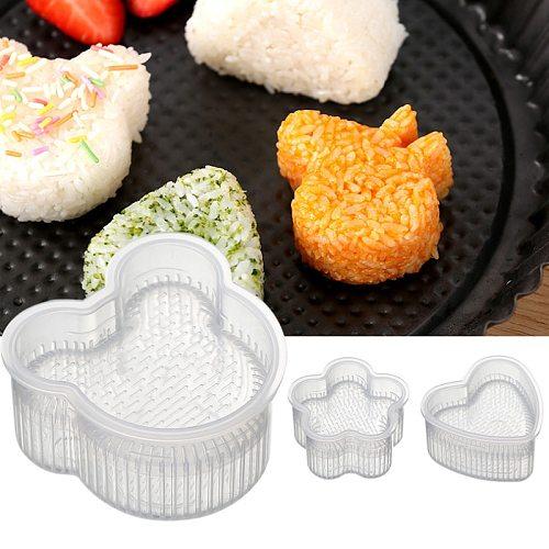 DIY Sushi Mold Onigiri Rice Ball Food Press Form Sushi Mold Onigiri Rice Ball Bento Press Maker Mold DIY Tools New