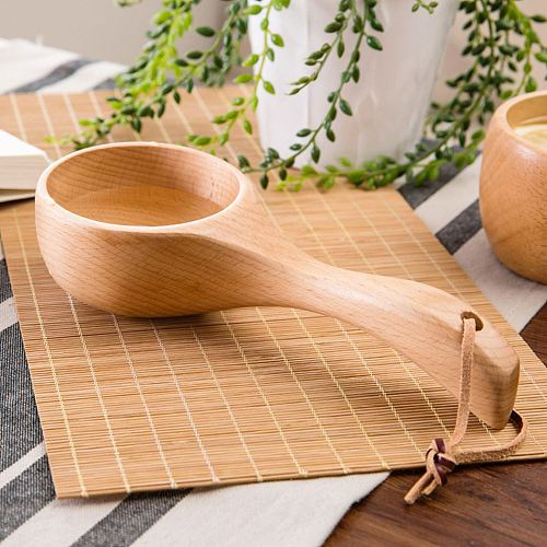 Wooden Spoon Soup Teaspoon Catering Kids Spoon Japanese-Style Rice Scoop Kitchen Cooking Utensil Tool For Rice Soup