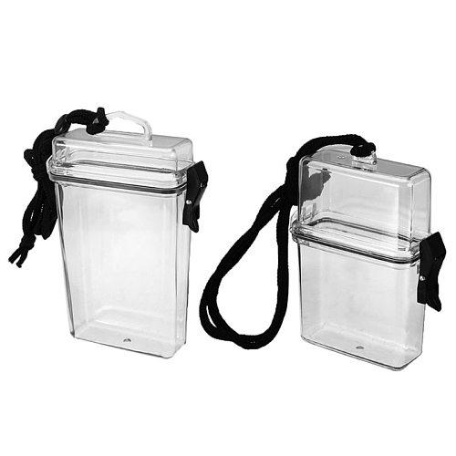 Transparent Waterproof Clear Cigarette Case Box Neck-hung Portable Plastic Lipstick Lighter Card Storage Box Holder