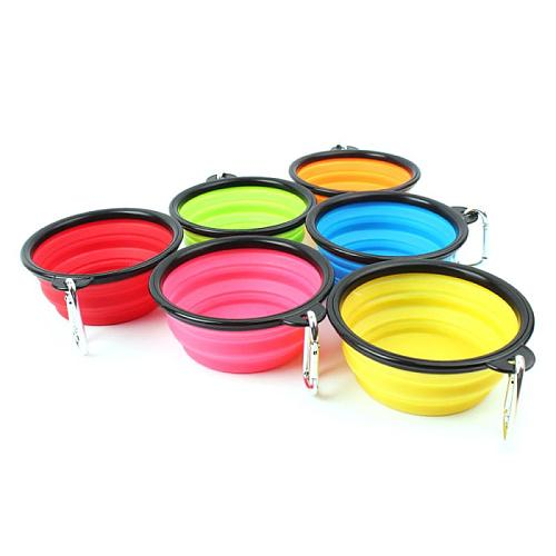 Portable Foldable Pet Dog Bowl Outfit Travel Bowl For Dog Feeder Utensils Small Mudium Dog Food Water Dish