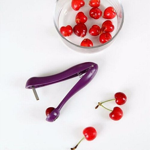 New Cherry Pitter Plastic Fruits Tools Fast Remove Cherry Core Seed Remover Enucleate Keep Complete Kitchen Gadgets Accessories
