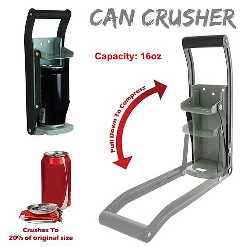 16 Ounces Heavy Duty Can Crusher Smasher Soda Beer Cola Budweiser Recycling Tool Home Dispensing Can Crusher Bottle Opener