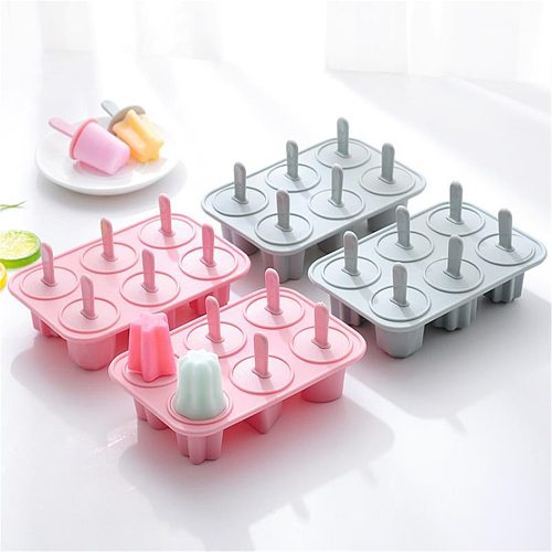 Handmade DIY Silicone Ice Cream Mold Making Ice Box Popsicle Mold Silicone Molds Ice Cream Chocolate Molds Kitchen Accessories