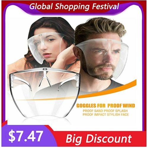 Home Cooking Face Screen Anti-Fog Prevent Liquid Oil-Splashing Protective Face Shield Tranparent Dustproof Facial Protect Visor