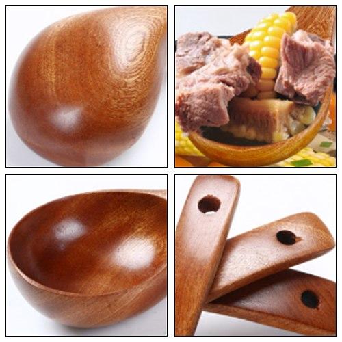 Wooden Soup Ladle Long Handle Porridge Scoop Natural Wood Japanese Soup Spoon Home Tableware For Cooking Soup Noodles Hot Pot