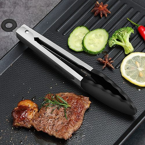 Silicone BBQ Tongs Basting Brush Set Oil Brush Kitchen Tongs BBQ Grill Food Meat Tongs Barbecue Tongs Oil Sauce Brush BBQ Tools