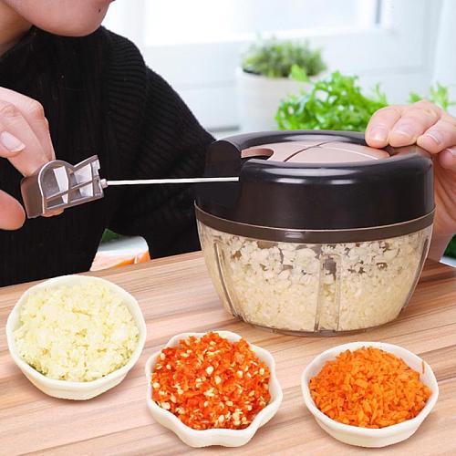 Newest Manual Fruit Vegetable Chopper Hand Pull Food Cutter Onion Nuts Grinder Mincer Shredder Multifunction Kitchen Accessories