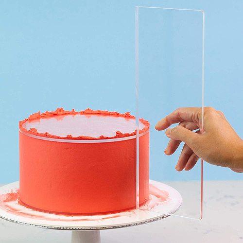 12inch Cake Scraper Stripes Edge Side Cake Scraper Mousse Butter Cream Cake Decorative Scraper Icing Smoother Tool Frosting Comb
