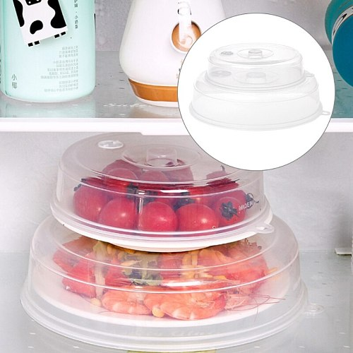 Plastic Microwave Plate Cover Clear Steam Vent Splatter Lid Food Dish Kitchen Tools