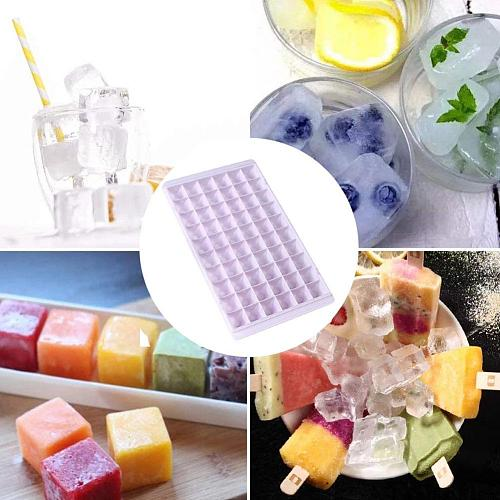 1pc Small Ice Cube Tray Cold Cubes Tray Silicone Ice DIY Tools Mould Maker Freezer Ice Lolly Homemade Mold Home Cream In Ic N9G9