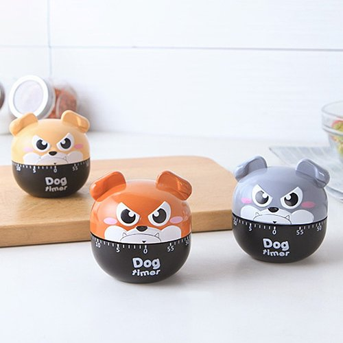 New Cute Cartoon Dog Shape Timers 60 Minutes Kitchen Timer Mechanical Manual Timer For Cooking Sleep Tools  Kitchen Gadgets