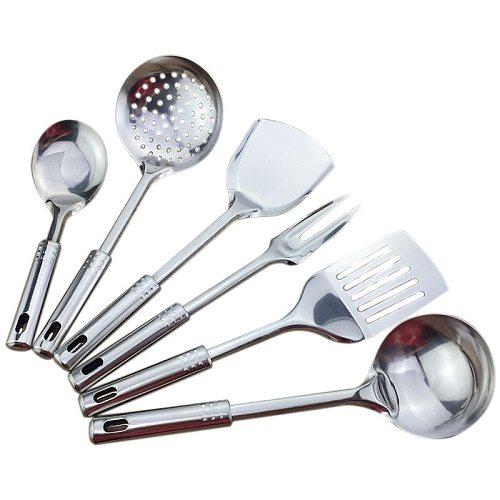 6 piece kitchen utensil set stainless steel kitchen cooking tools high-grade kitchen utensils kitchen accessories porridge spoon