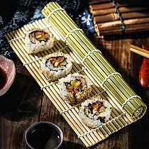 Sushi Curtain Cooking Accessories Sushi Rolling Roller Hand Maker Sushi Tools Onigiri Rice Rollers Bamboo Non-Stick