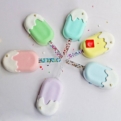 1PC Popsicle Stick Kids Crafts Glitter Acrylic Ice Cream Sticks Popsicle Crafts DIY Handmade Making Crafts Baby Shower Kids Gift