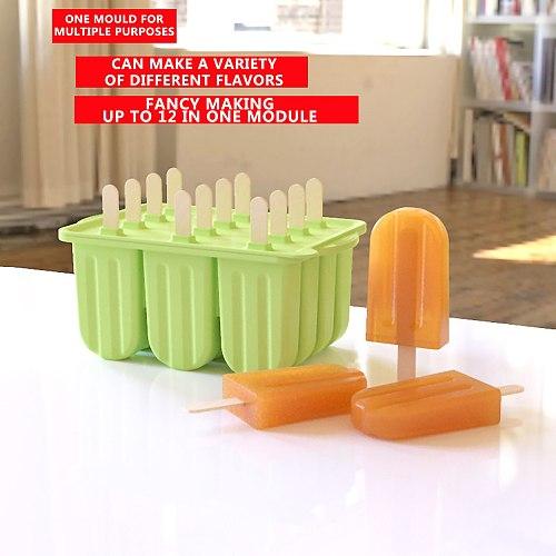 Silicone Ice Cream Mold Ice Lolly Molds Summer Cool With Sticks Tray Ice Froze Инструменты Для Мороженого