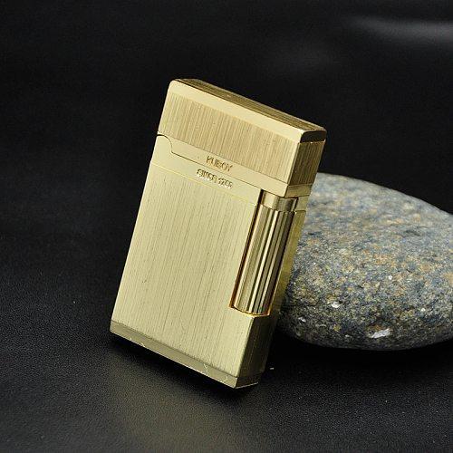 Men's Lighter High Quality Gas Cigarette Lighter Refillable Grinding Wheels Fire Lighter Smoking Business Gift Lighters Case