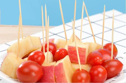 About 100 pcs disposable toothpick box bamboo toothpick travel toothpick cover travel portable  Disposable bamboo stick
