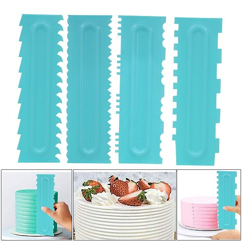 1PC Cake Decorating Comb Cake Scraper Smoother Cream Decorating Pastry Icing Comb Fondant Spatulas Baking Pastry Tools