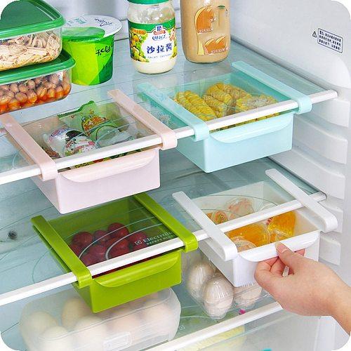 Refrigerator Storage Box Kitchen Accessories Space-saving Cans Finishing Four Case Organizer Creative Twitch Type Glove Box New