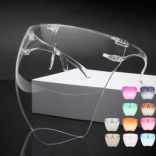 Unisex Colorful Eye Shield Visor Wrap Shield Large Mirror Sun Glasses Half Face Shield Guard Protector Face Mask Anti-spray Mask