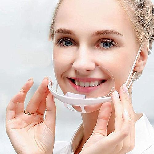 10Pcs Hygiene Safety Face Shield Plastic Visor Protective Anti-Fog Anti-Splash Transparent Food Face Shield For Mouth Nose