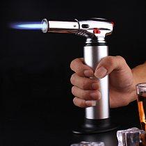 Kitchen Outdoor BBQ Pistol Lighter Baking Spray Gun Torch Gas Jet Windproof Camping Lighter Turbo Butane Big Firepower 1300 C