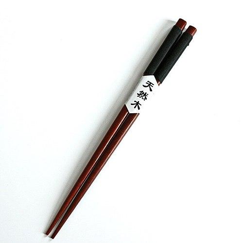 1 pair of handmade Chinese natural chestnut chopsticks set value gifts