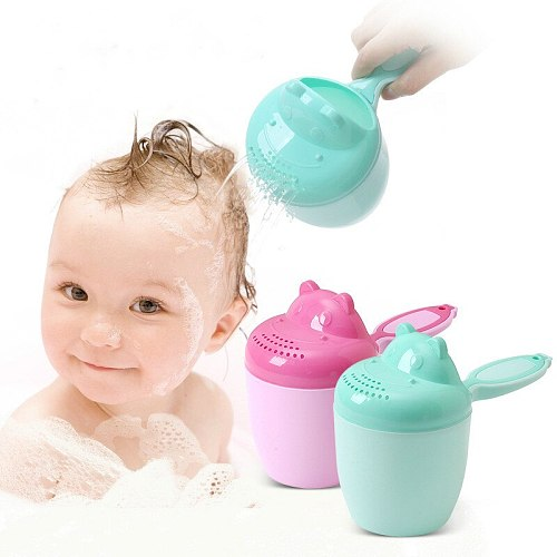 Baby Shampoo Cup Children's Shower Baby Bath Spoon Plastic Bath Water Scoop Children Water Spoon Dice Thickened Baby Products