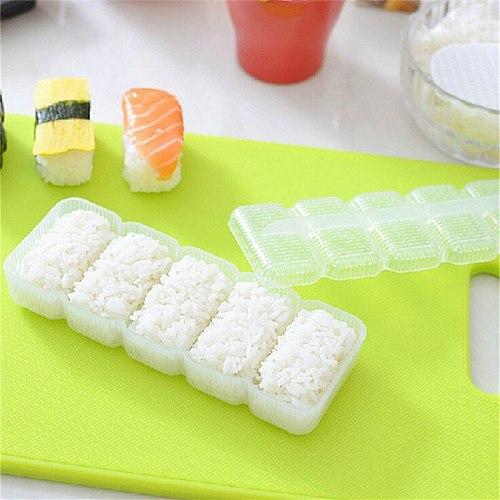 5 Rolls Japan Nigiri Sushi Mold Rice Ball  Maker Non Stick Press DIY Tool Drop Shipping 1 Set
