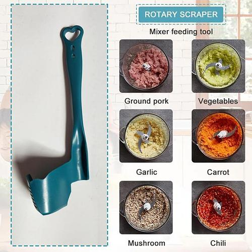 Rotate Spatula Mixer Cooking Machine Spoon Rotating Scraper Removing Scooping &Portioning Food Processor