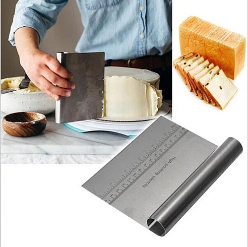 Stainless Steel Pastry Cutters Baking Cake Spatulas Cooking Pizza Dough Scraper Fondant Cake Decoration Tools Kitchen Gadget