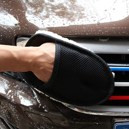 Microfiber Wool Soft Auto Car Washing Glove Cleaning Car Cleaning glove Motorcycle Washer Care Car paint Wash care tools