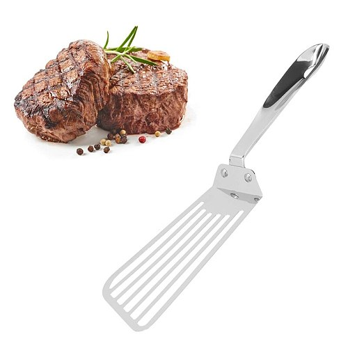 Stainless Steel Slotted Spatula Fish Slice Slotted Turner Spatula Fried Steak Drain Spatula Kitchen Cooking Tool
